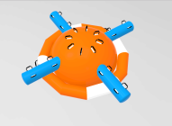 Inflatable Water Ufo OrangeBiru